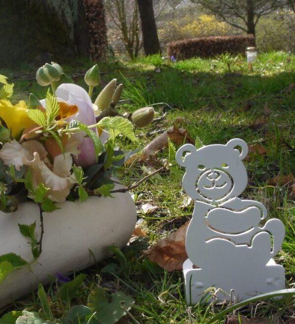 Bamse fyrfadsstage blomster