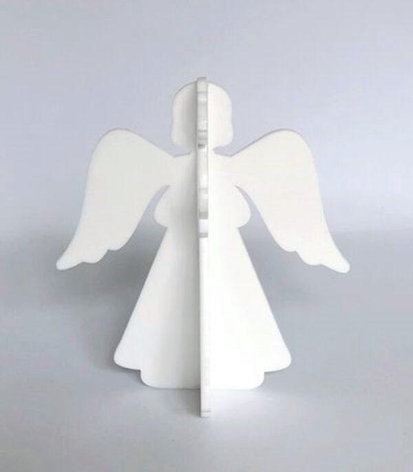 Ryborg Urban Designs Engel stående julepynt denmark hvid forfra