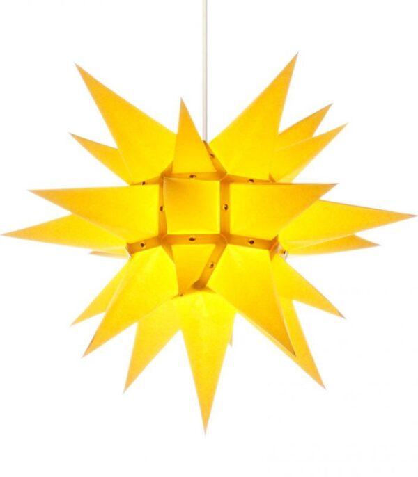Herrnhuter stjerne 40cm Papir Gul Christiansfeld Brødremenigheden