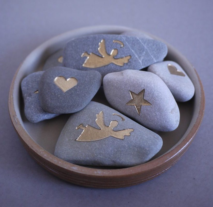 MindMyAngel Hjerte engle stjerne sten