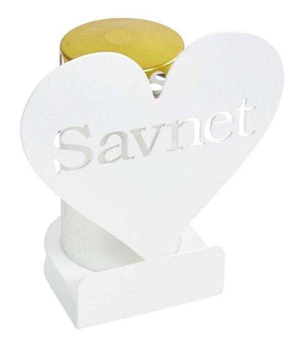 Hjerte til gravlys savnet hvid