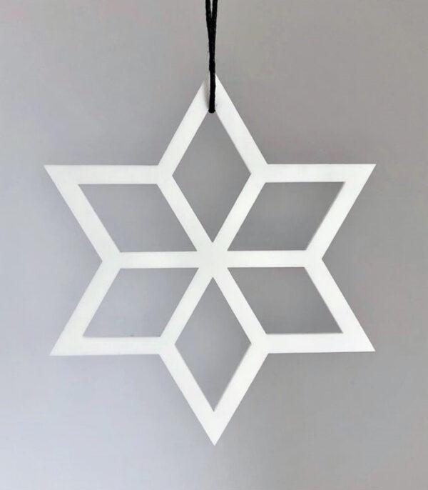 Ryborg Urban Designs geometrisk stjerne julepynt denmark hvid
