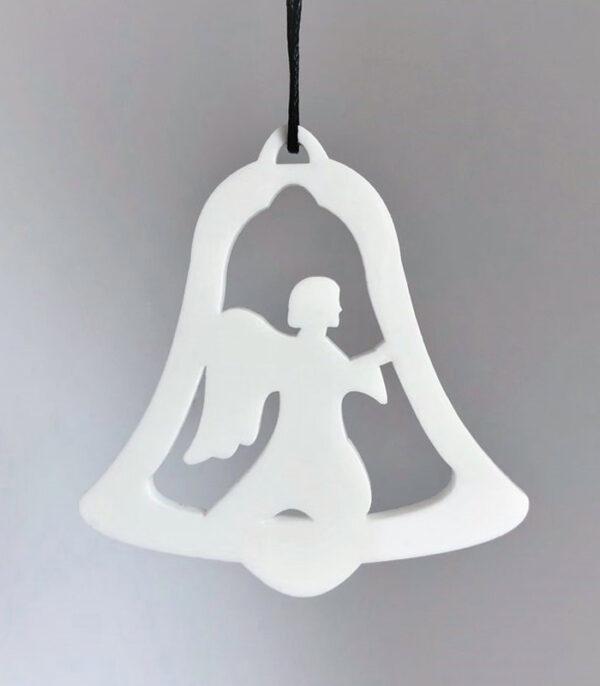 Ryborg Urban Designs klokke engel julepynt denmark hvid
