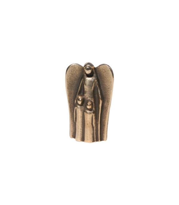 Bronze figur engel med to børn 116038