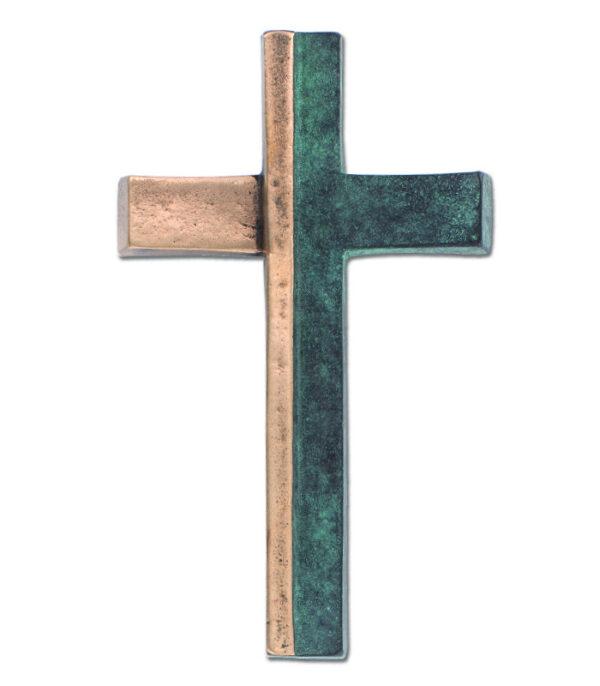 Bronze kors med grøn patinering143736