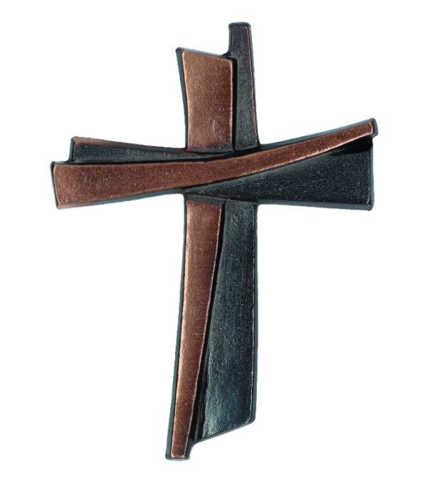 Bronze kors patineret