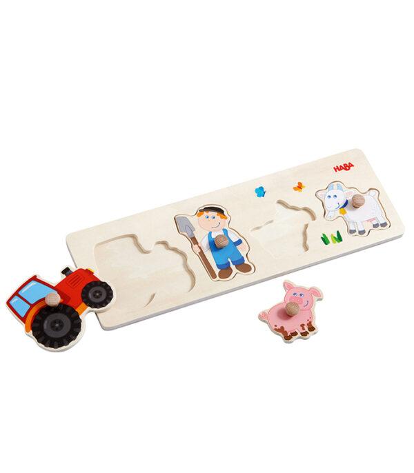 HABA Knoppuslespil med bondemand og traktor