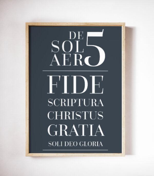 OnlyByGrace Kristne plakater De 5 solaer