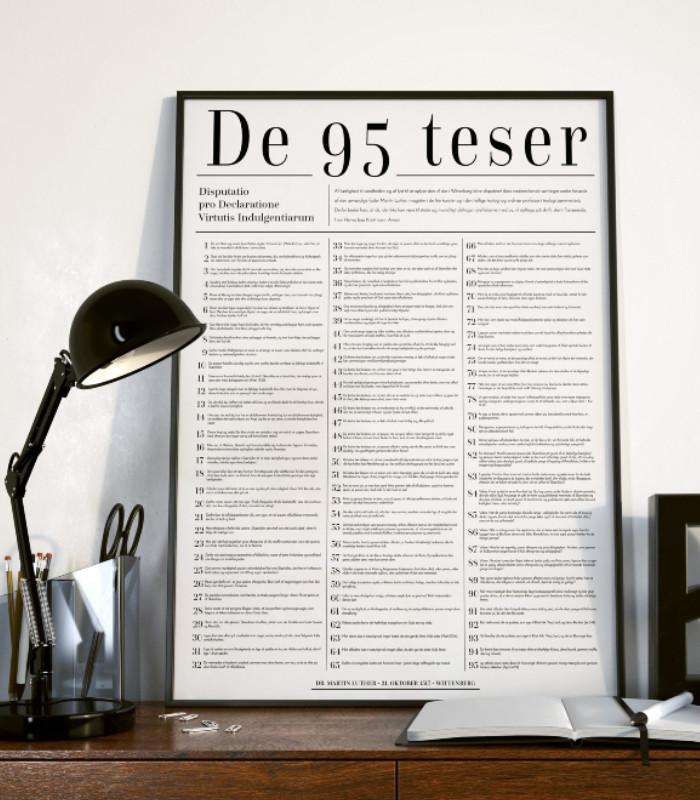 OnlyByGrace Kristne plakater Luthers 95 Teser