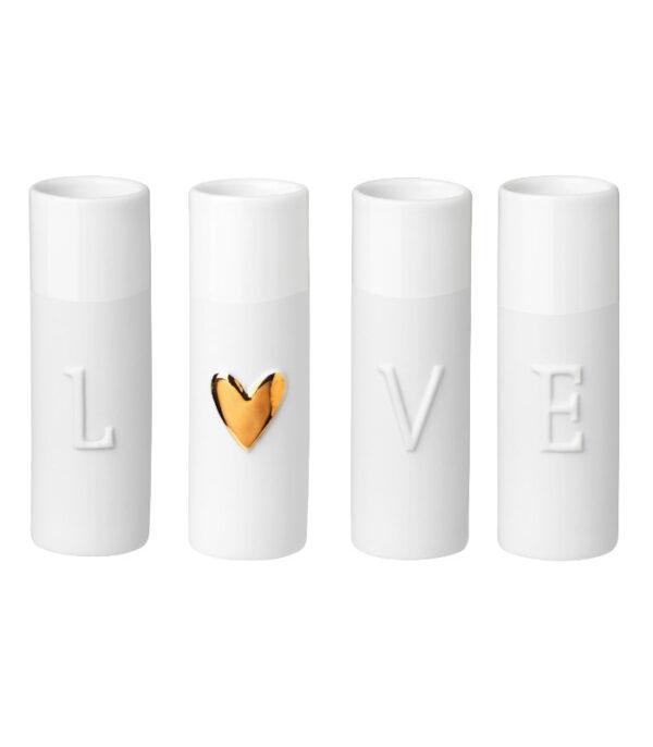 OnlyByGrace LOVE vaser saet med 4 13802