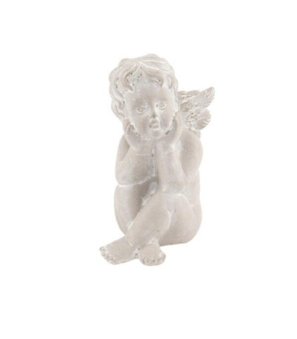 OnlyByGrace engel med albue pa knae 17 cm