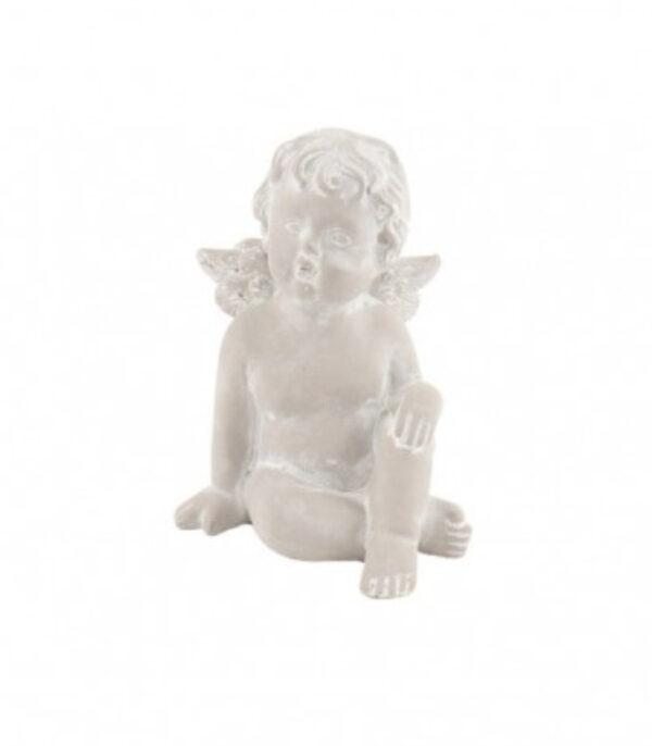 OnlyByGrace engel med haand pa knae 17-cm