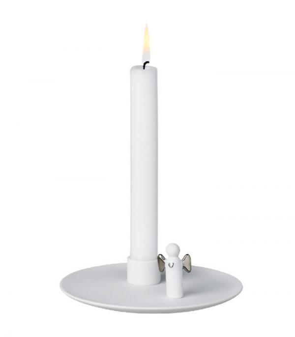 OnlyByGrace lysestage med engel sølv