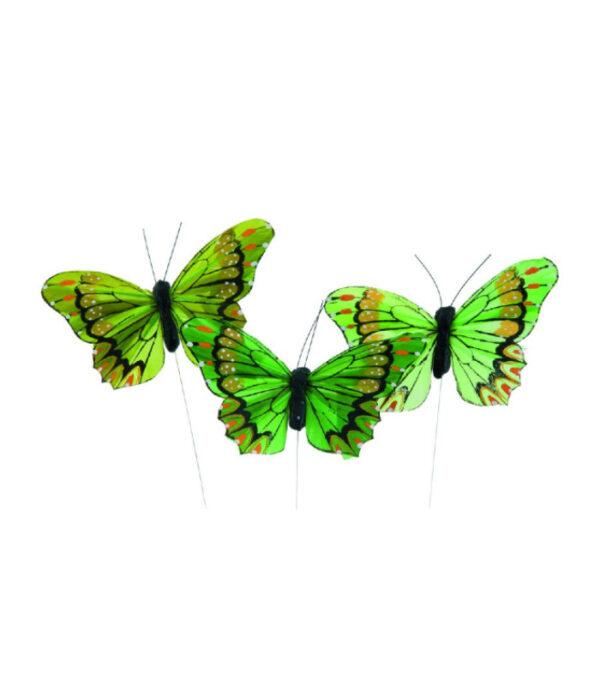 OnlyByGrace sommerfugl groen