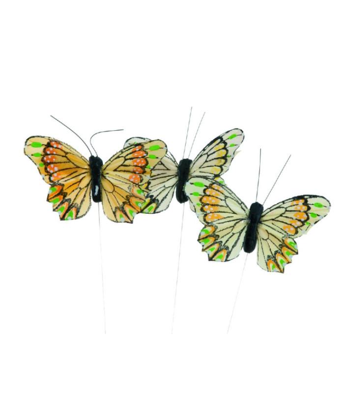 OnlyByGrace sommerfugl gul