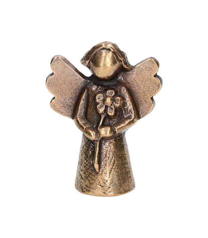 OnlyByGrace Bronze engel med blomst