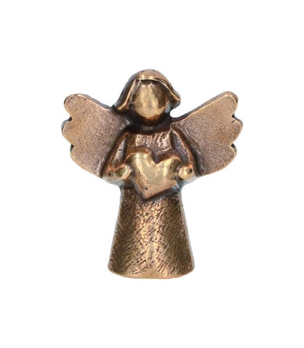 OnlyByGrace Bronze engel med hjerte
