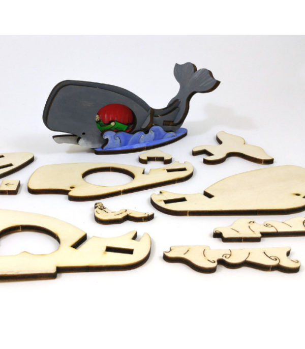 OnlyByGrace Jonas i hvalen 3D puslespil