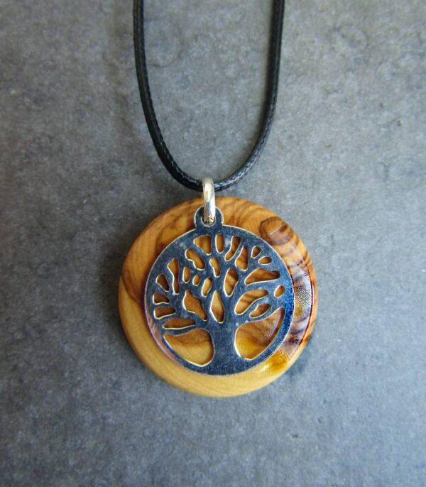 OnlyByGrace Livets træ med lædersnor