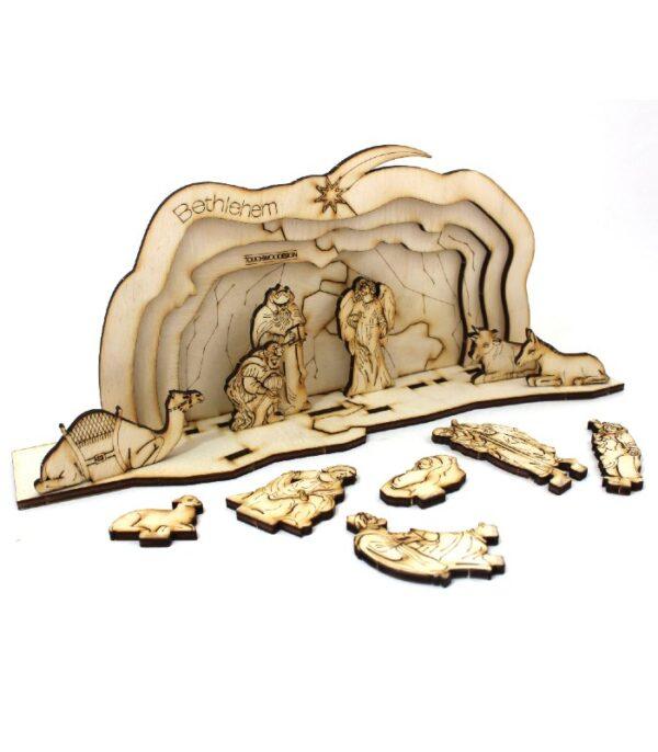 OnlyByGrace Krybbespil med grotte 3D puslespil