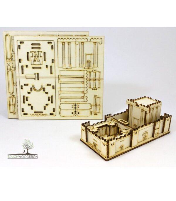 OnlyByGrace Templet i Jerusalem 3D puslespil