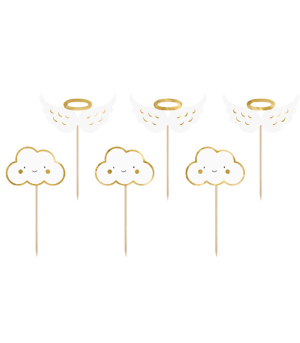 OnlyByGrace Cup Cake pynt skyer englevinger barnedåb