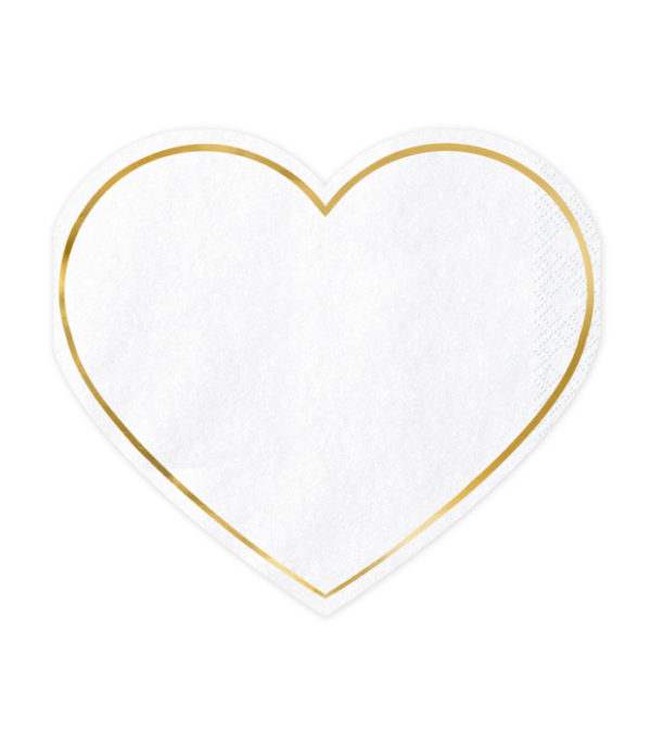 OnlyByGrace Serviet hjerteformet guld