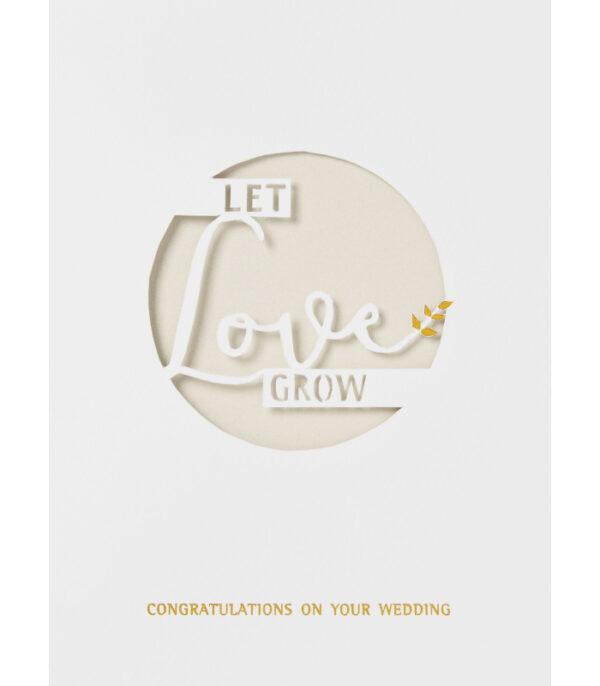 OnlyByGrace Bryllupskort Dobbeltkort let love grow
