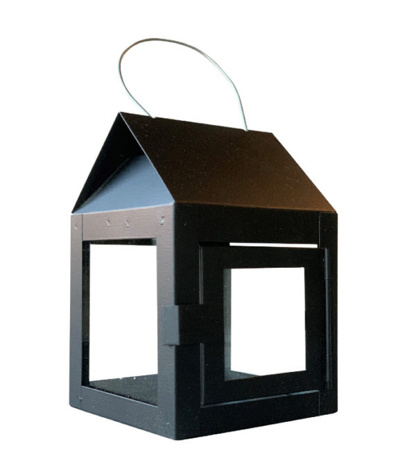 OnlyByGrace A2Living 40082 Hanging Lantern with wire Black Galvaniseret
