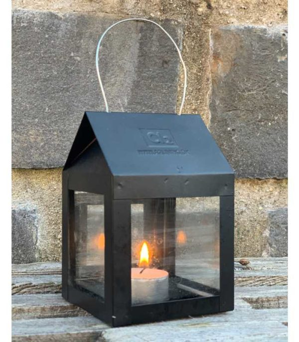 OnlyByGrace-A2Living-40082-Hanging-Lantern-with-wire-Black-Galvaniseret