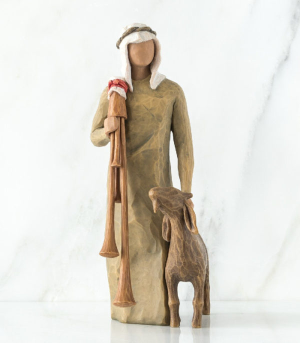 OnlyByGrace Willow Tree Shepherd w backpipe