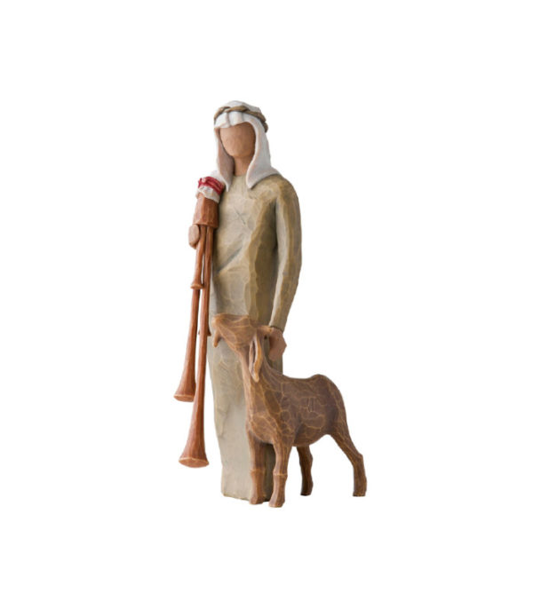 OnlyByGrace Willow Tree Shepherd w bagpipe