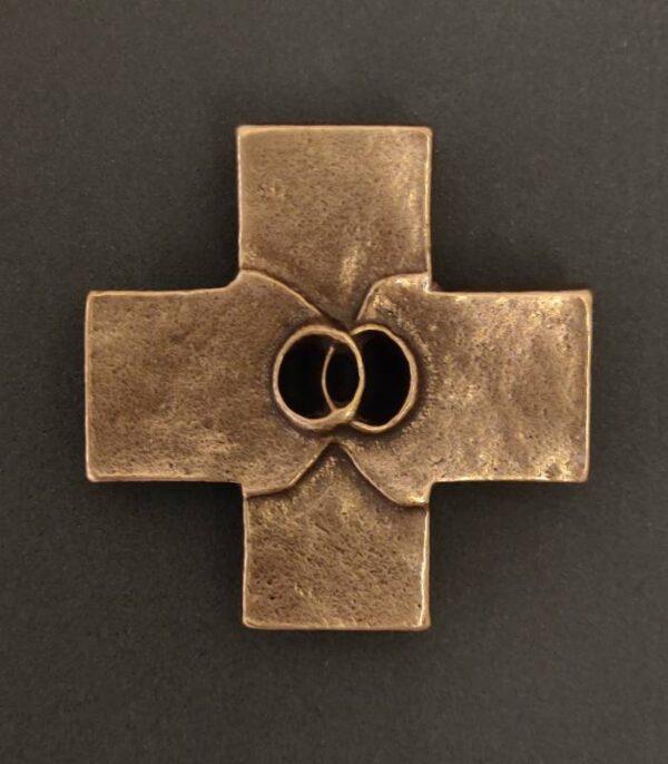 OnlyByGrace-bronzekors ægteskab ringe