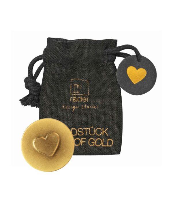 OnlyByGrace Hjerte amulet guld i pose