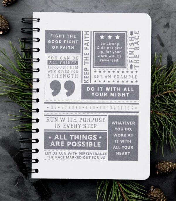 OnlyByGrace Notesbog Keep the faith