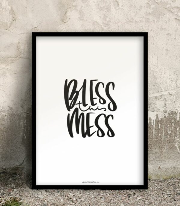 OnlyByGrace Plakat Bless this mess