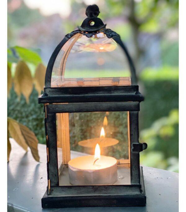 OnlyByGrace Firkantet lanterne brun