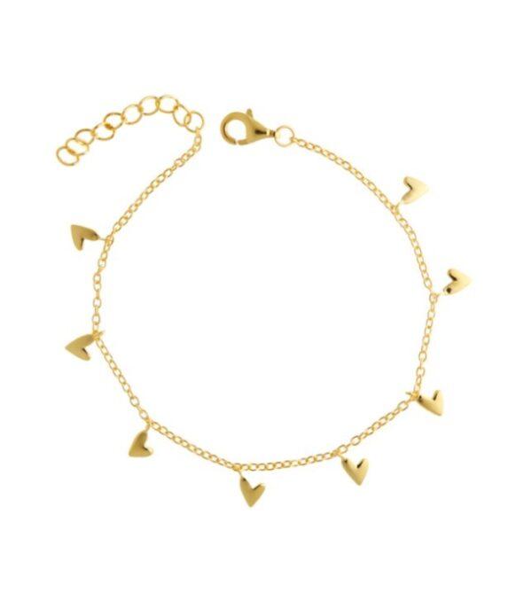 OnlyByGrace Hjerte armbånd guld