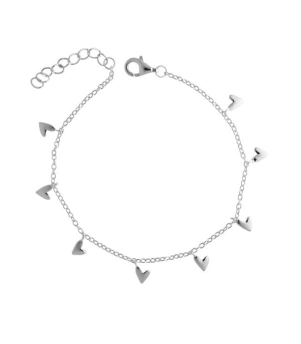 OnlyByGrace Hjerte armbånd sølv