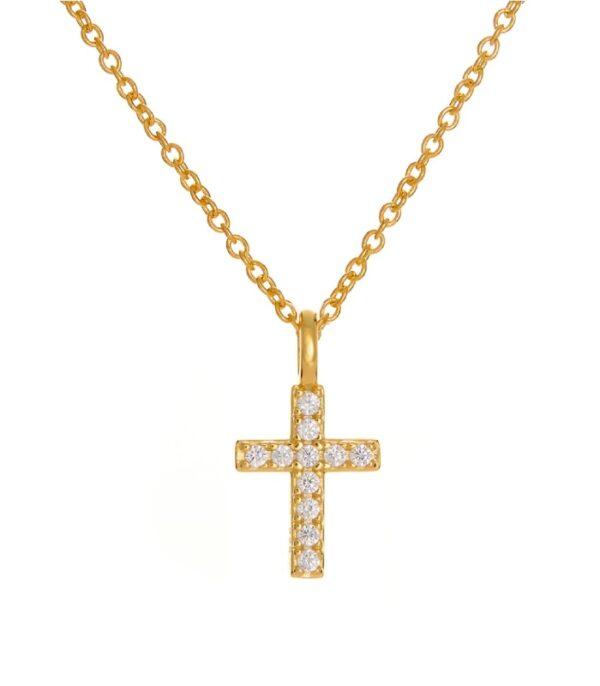 OnlyByGrace Kors halskæde guld