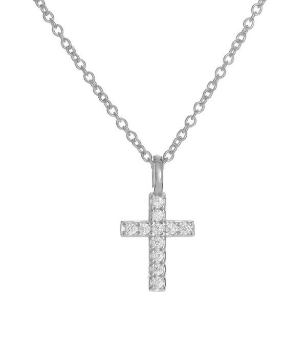OnlyByGrace Kors halskæde sølv