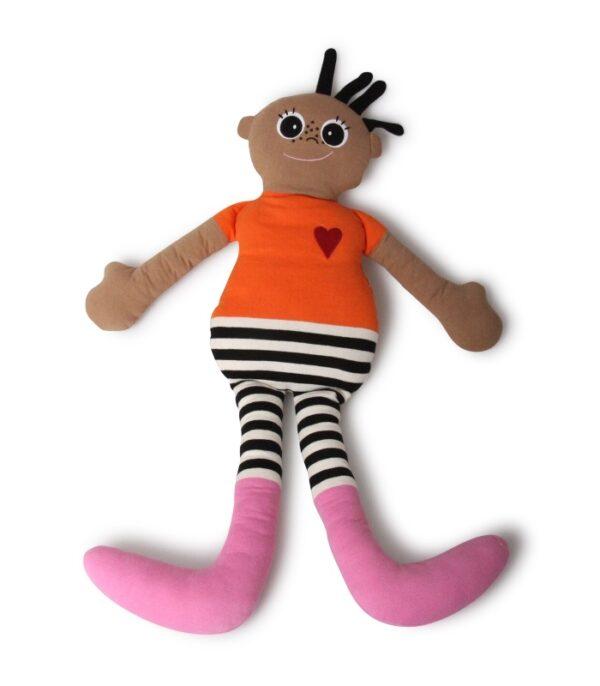 OnlyByGrace KAI dukke orange 100cm stående