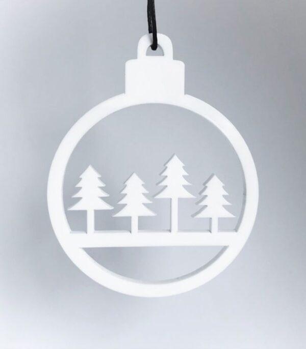 OnlyByGrace Kugle med juletræer Ophæng
