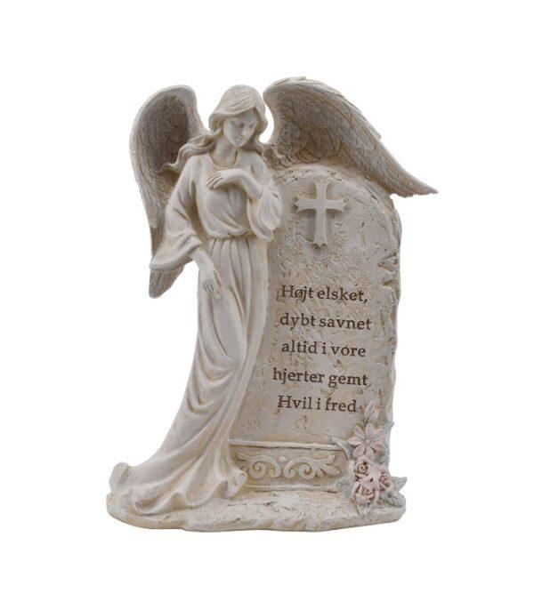 OnlyByGrace Gravpynt Engel ved gravsten Fritlagt
